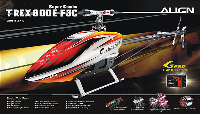 T-REX 800E F3C Super Combo – Hobby Toys Milano
